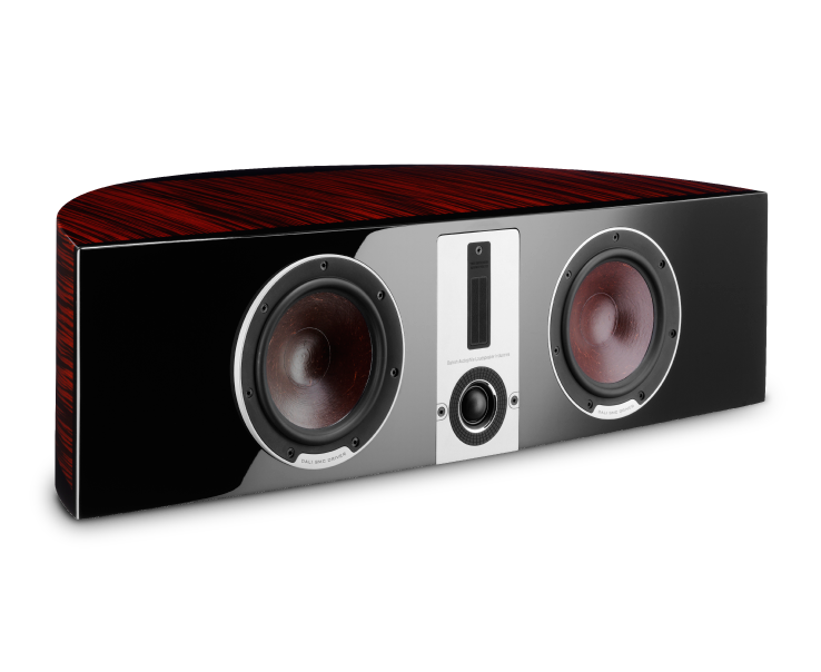 DALI EPICON VOKAL in a Ruby Macassar finish with High Gloss Lacquer